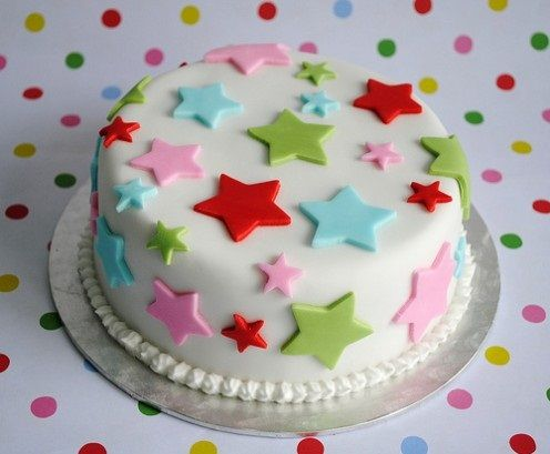 Christmas Cake Decoration With Stars : Christmas Cake Star Decorations- but in red, green and ...