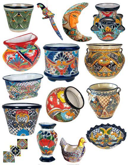 Talavera Pottery and Mexican Pots at San Diego Rustic