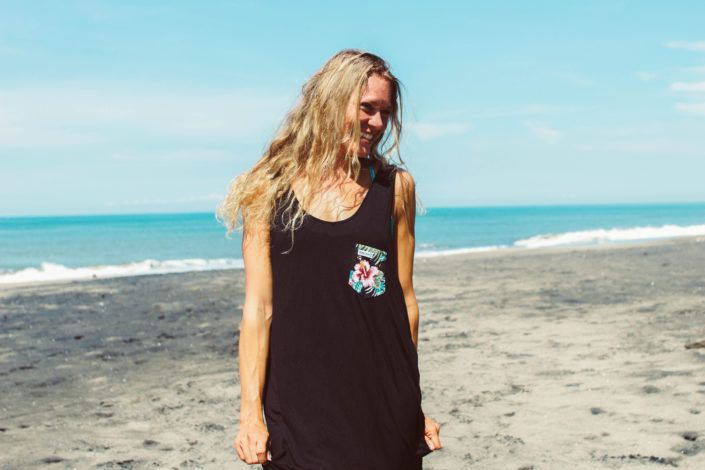 ZEALOUS Tropical Pocket Tank Top // surf inspired streetwear made in Bali #MadeInBali #surfstyle #fw16