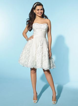 another gorgeous LWD! Alfred Angelo Little White Dress Short ...