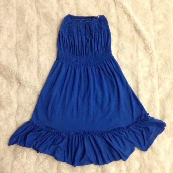 Blue Strapless Sundress Size Small. Blue Strapless Sundress. Size Small. Great condition. Super comfortable. Dresses Strapless