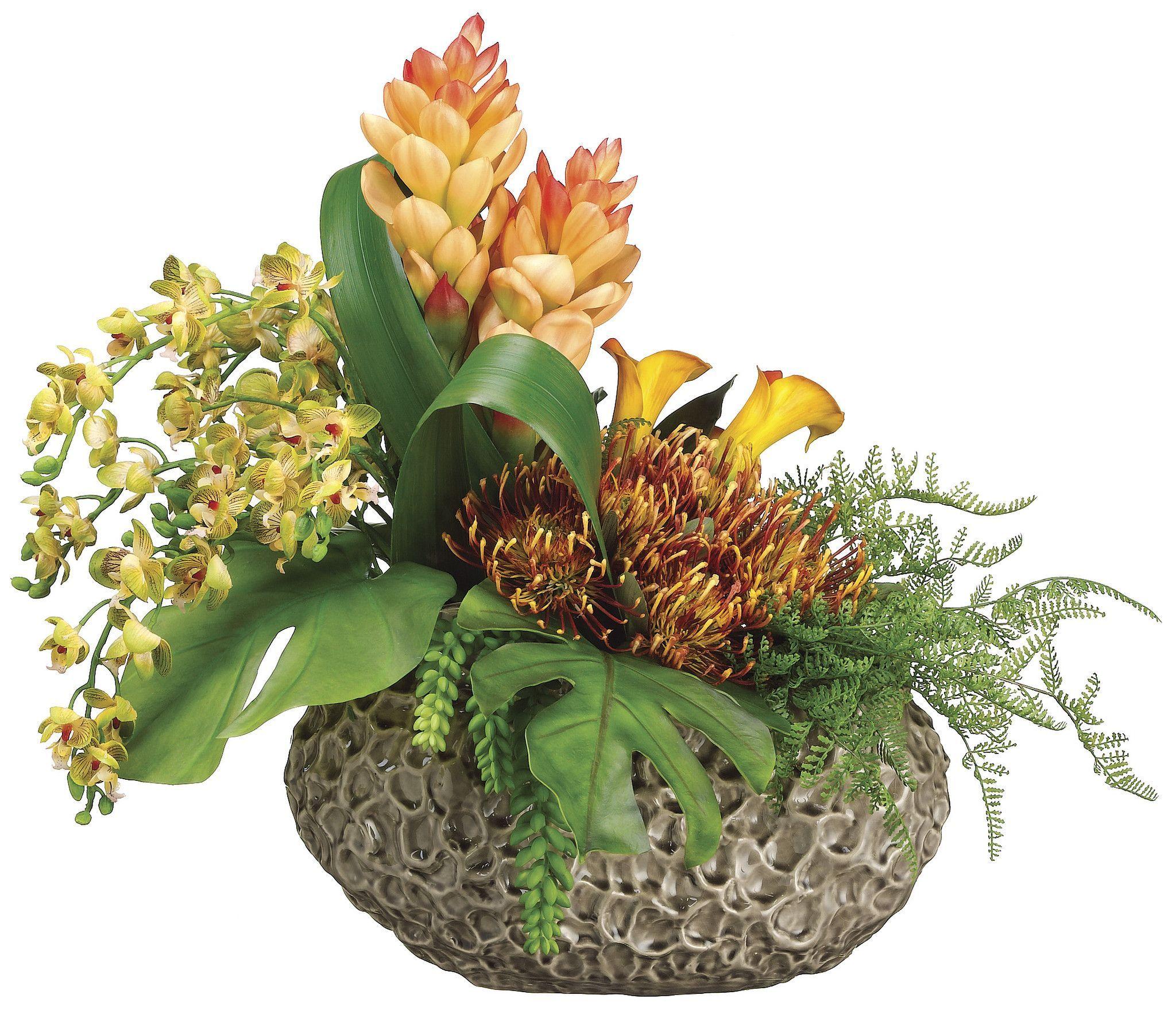 Phalaenopsis Orchid Protea Calla Lily And Ginger Arrangement