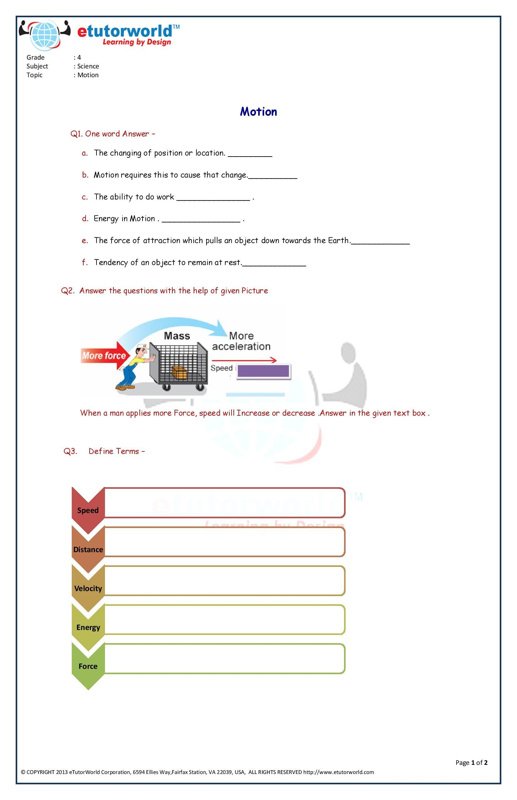 Pin By Etutorworld Inc On Grade 4 Science Worksheets