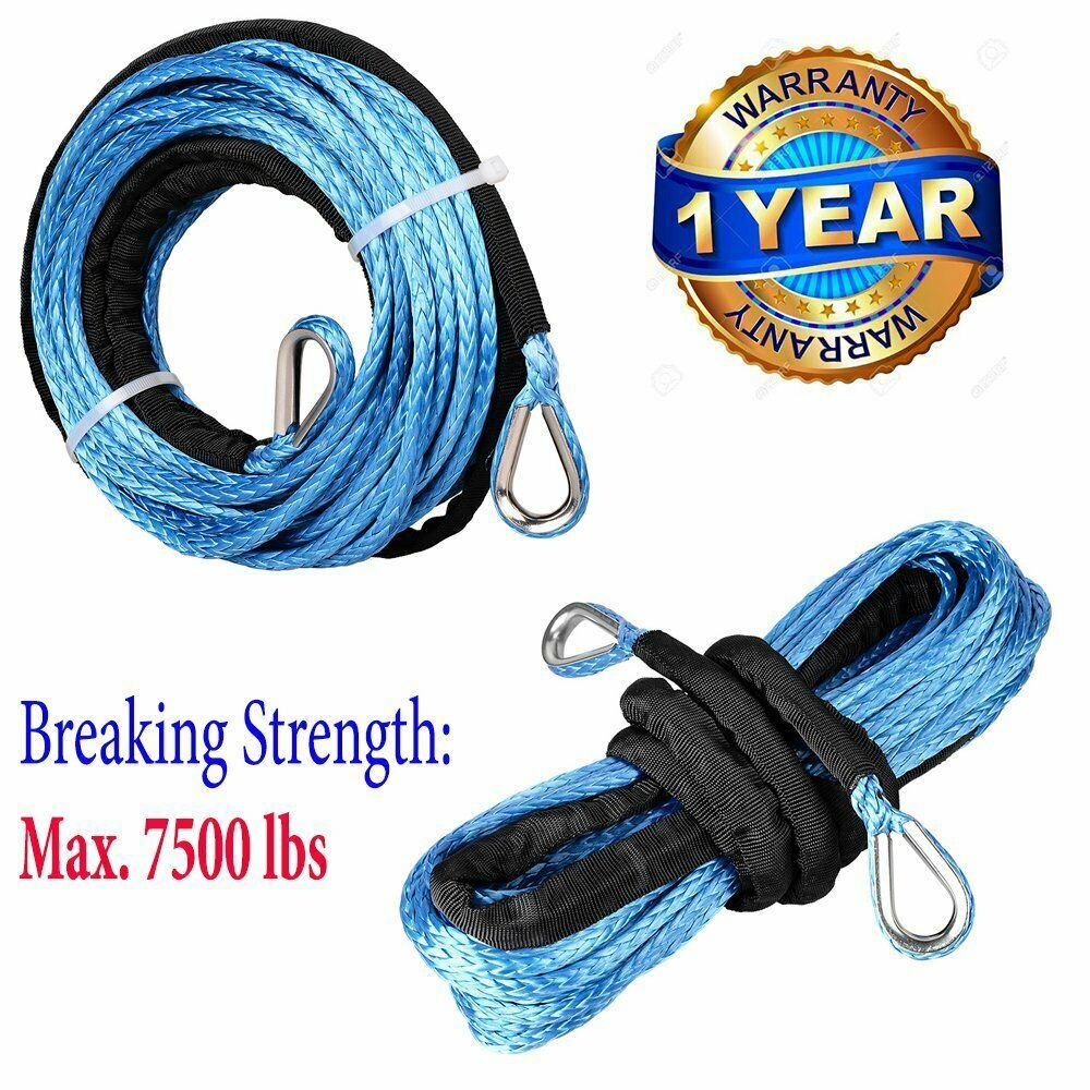 Sponsored Ebay 2pcs 1 4 50ft Blue Uhmwpe Winch Rope Extension Pull Rope Atv Utv Suv 7000 Lbs Winch Rope Winch Synthetic Winch Rope