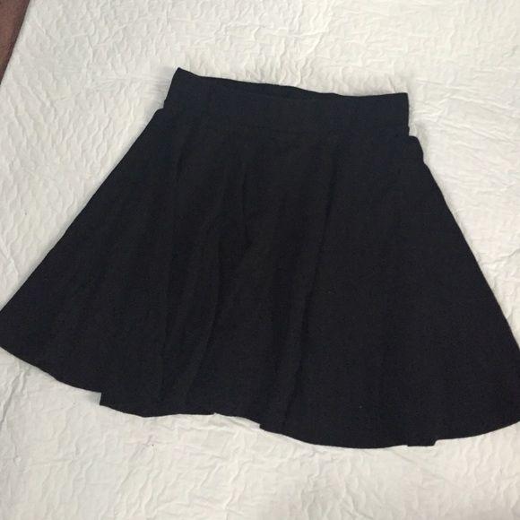 Black skater skirt Cotton material. Worn a few times Skirts Circle & Skater