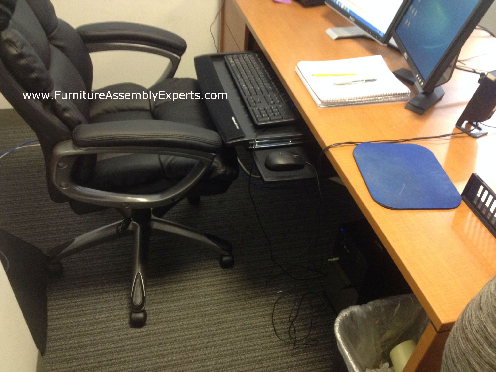 Office Desk Keyboard Tray Installed For A Company In Bethesda MD By  Furniture Assembly Experts LLC