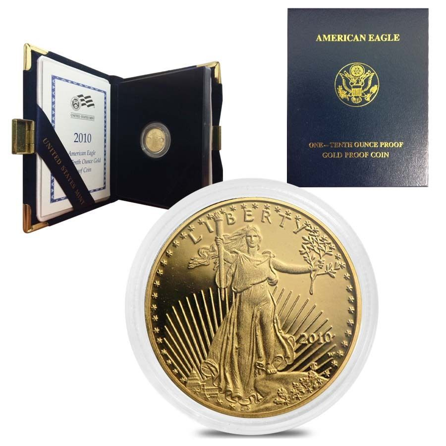 2010 W 1 10 Oz 5 Proof Gold American Eagle W Box Coa Gold American Eagle American Eagle Gold