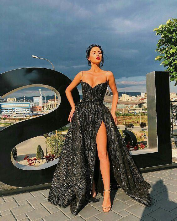 A-Line Sweetheart Split langes Abendkleid mit von PrettyLady auf Zibbet   – Formal dress