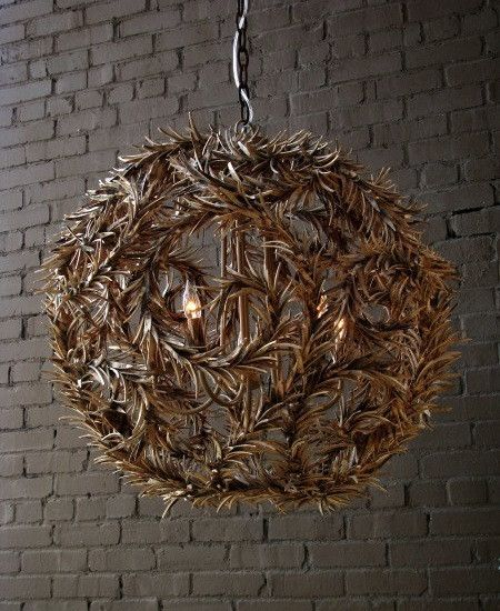 I love this Carved Wood Chandelier
