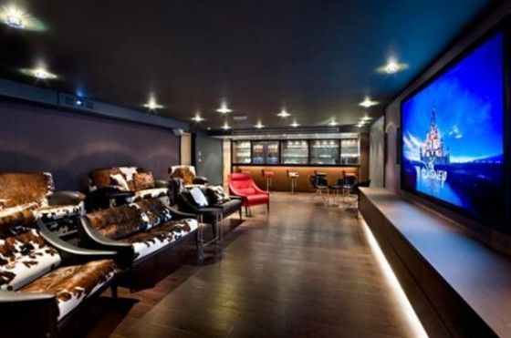 Home Theater With Mini Bar My Dream Room Home Theater