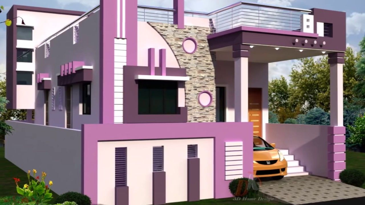 Homes With Staircase Towers Designs Small House Front Design | House Design With Stairs In Front | Village | Front Yard Stair | Unique | Elevated | Wood