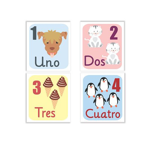 Numeros infantiles, numeros imprimibles, animales infantiles, laminas infantiles,numeros animales, numeros aprendizaje, aprendizaje infantil