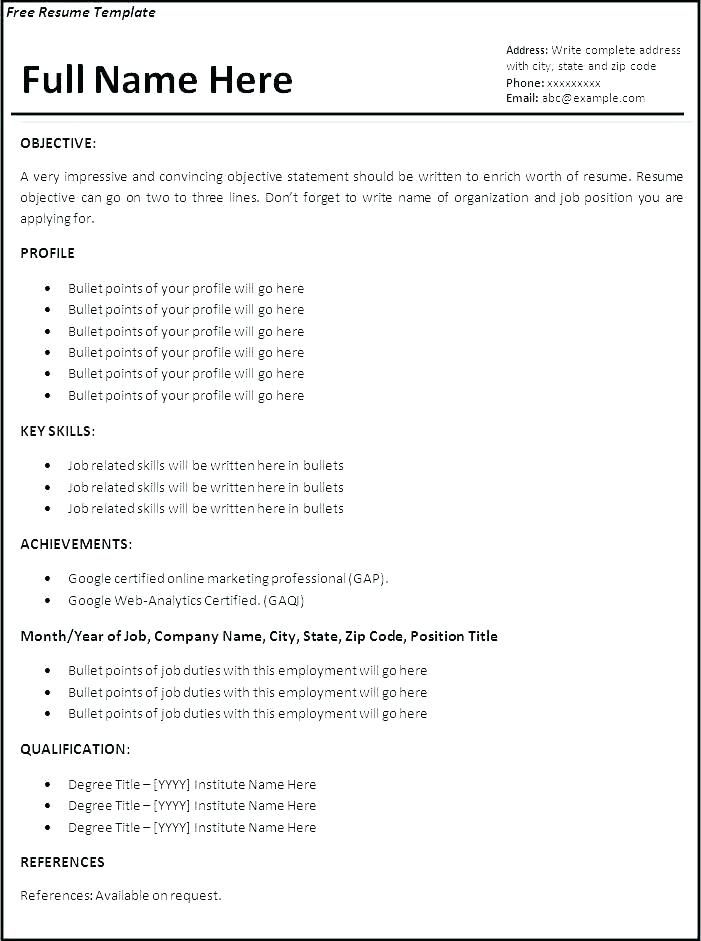 proper resume template resume layout example resume ...