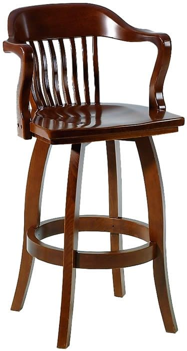 Waymar Wood Swivel Bar Stools With Arms The Federal