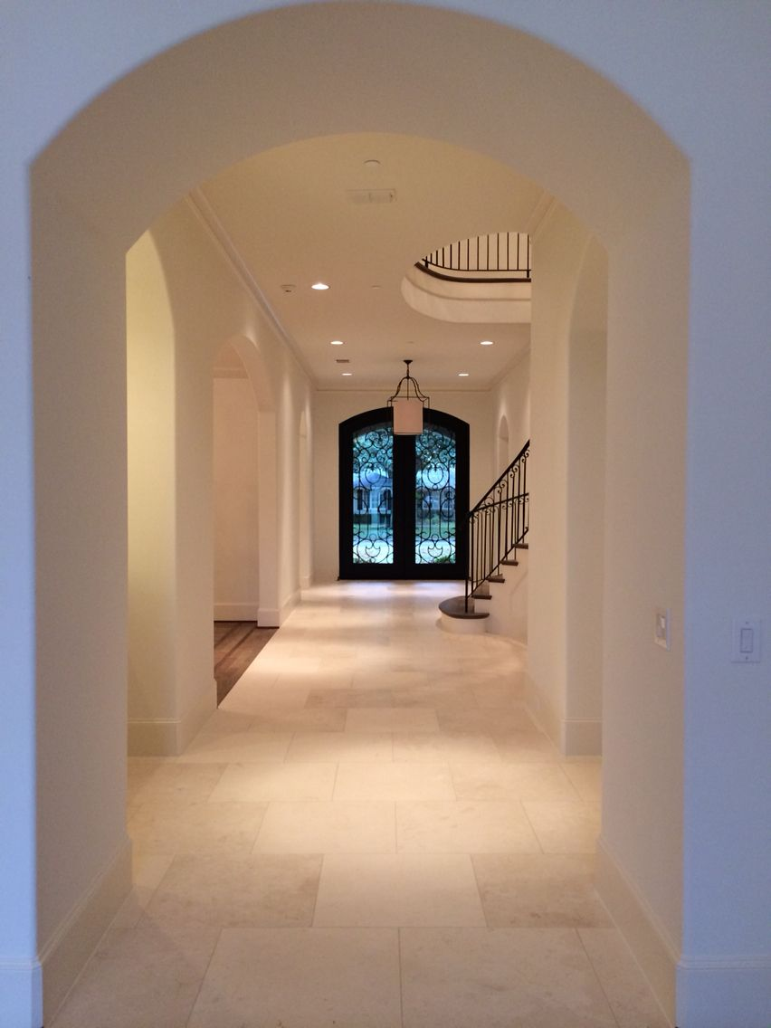 Love the front door to back yard wide marble hall
