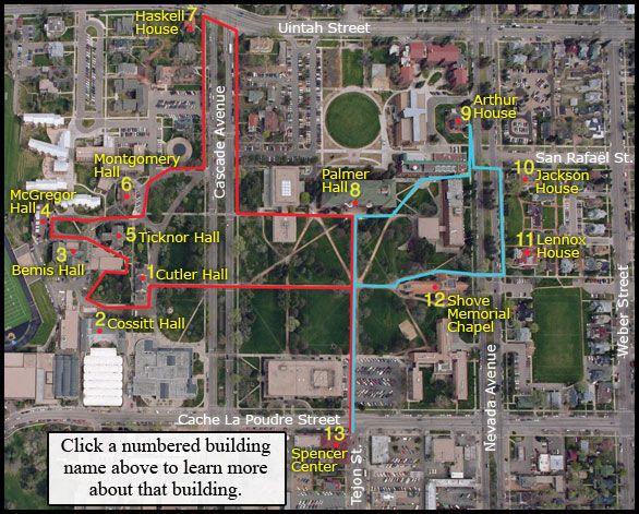 Colorado College Campus Map Campus Map Historic Walking Tour • Colorado College | Colorado