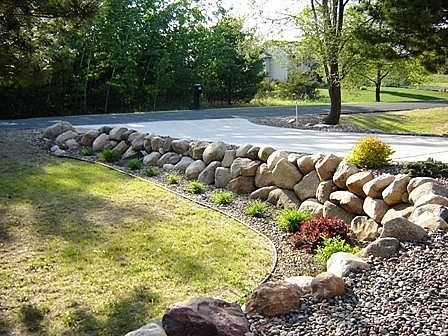 How To Build A Boulder Rock Retaining Wall Landscaping