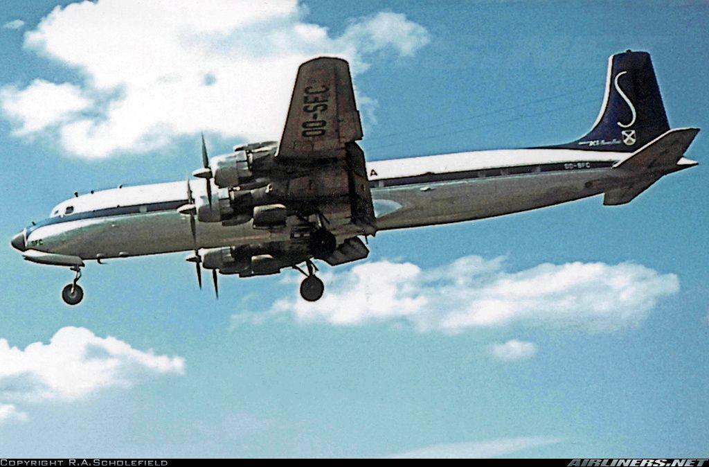 Douglas DC7C Seven Seas Sabena Aviation Photo