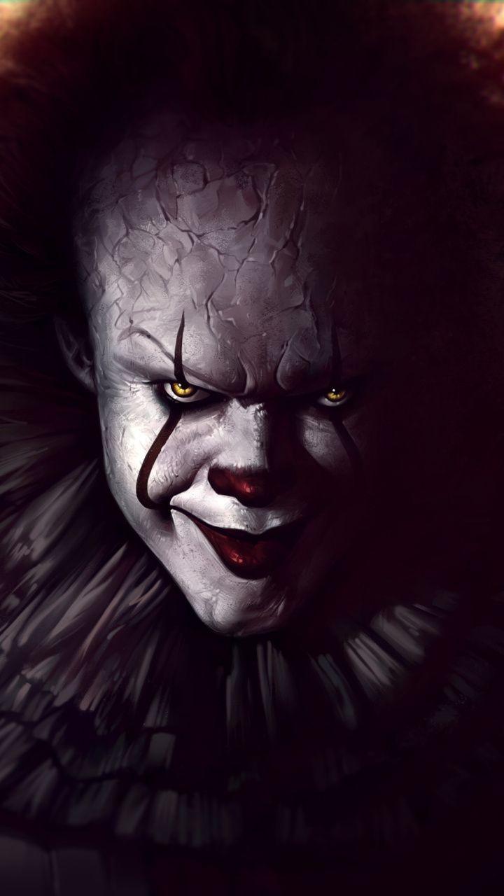 Pennywise It 2017 Movie Joker Art Wallpaper Scary Wallpaper Halloween Wallpaper Iphone Pennywise
