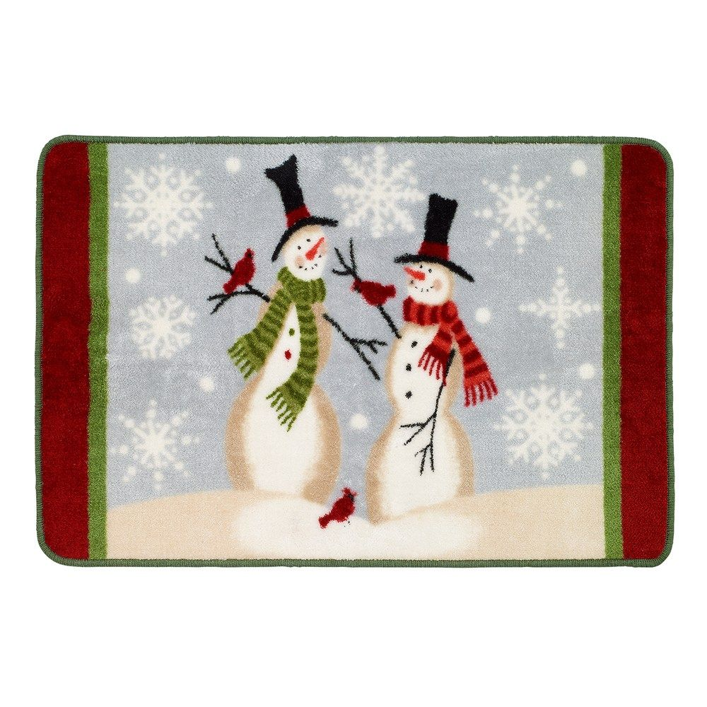 Avanti Tall Snowmen Rug Colorful Rugs Embroidered Towels Rugs