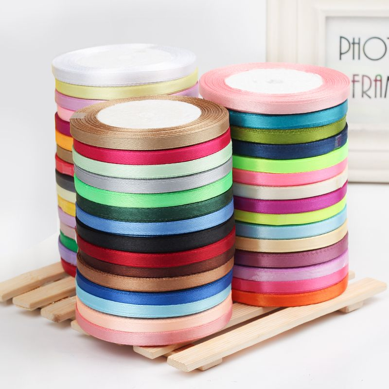 25Yards//Roll Grosgrain Satin Ribbons for Wedding Christmas Party Decorations l