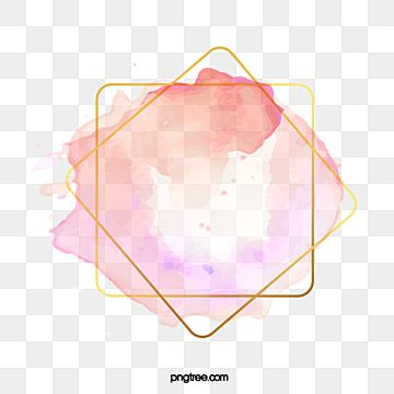 Pink Watercolor Brush Golden Square Border Square Watercolor Brush Png And Vector With Transparent Background For Free Download In 2020 Pink Watercolor Watercolor Brushes Watercolour Texture Background