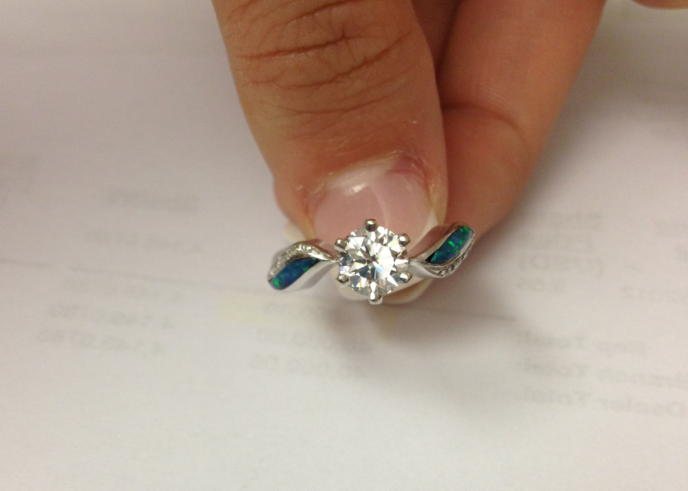 diamond and opal engagement ring i do now i don rings