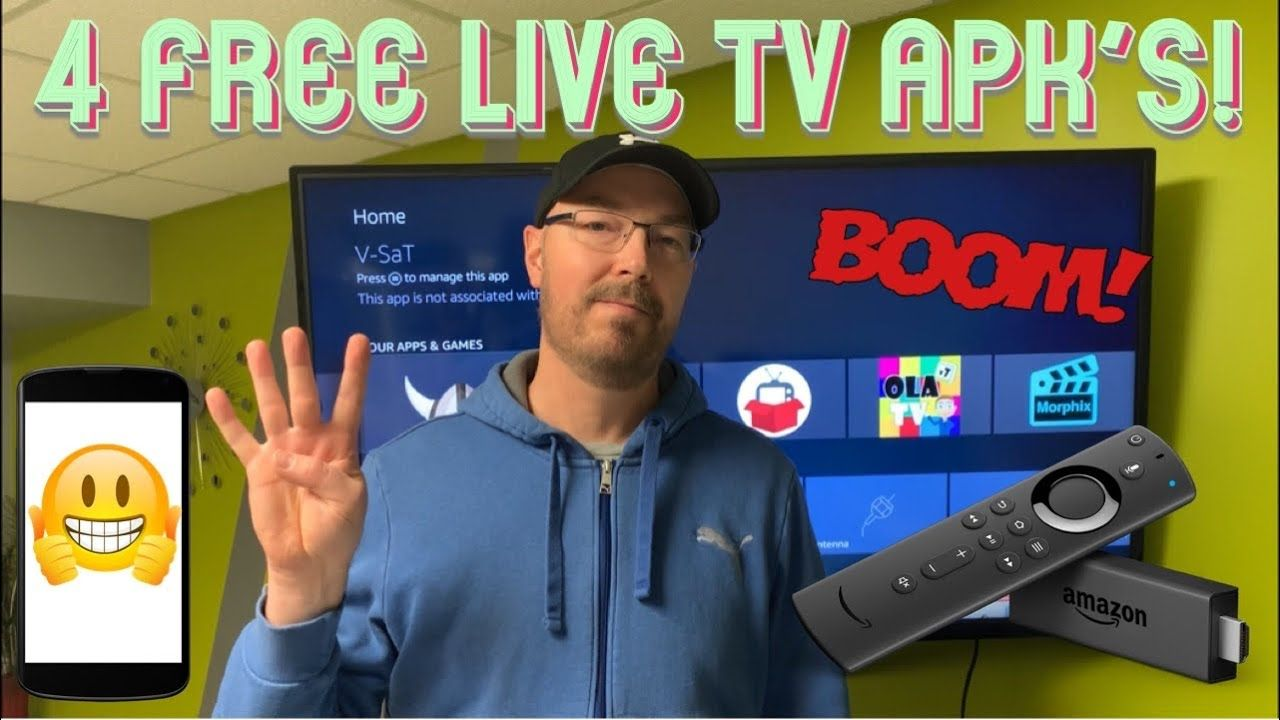 4 Free Live TV APK's To Try On Your Amazon Fire Stick And