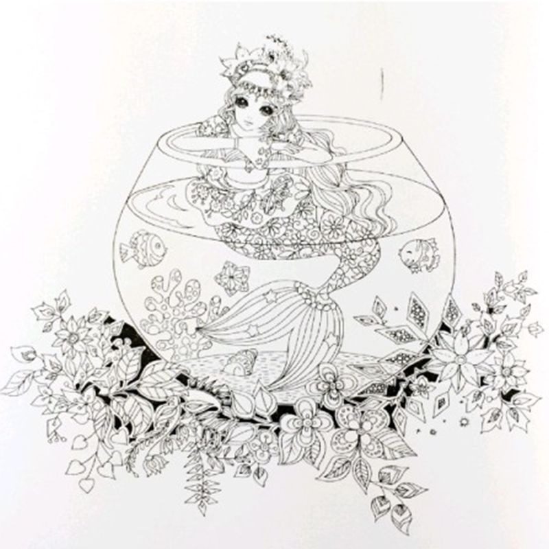 Fairy Tales And Magical Dreams Coloring Books For Adults Kids Antistress Mandala Secret Garden Quiet