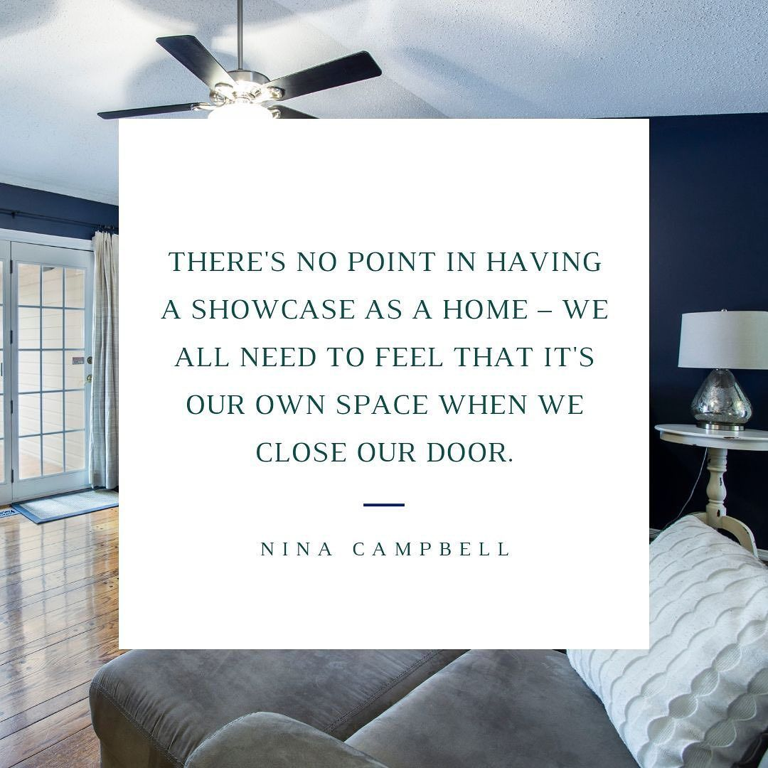 """Let go of those feelings of how your home """"should"""" look! At the end of the day, all that matters is how you feel about the space around you. You deserve to love your home. #ShopMattieLu #NinaCampbell #furnituredesigner #furnitureshopping #furniturestore #furniturecustom #homedesign #homequotes #homedecorquotes #homestyling #homestyle #homestyledecor #amishfurniture #homesweethome"""