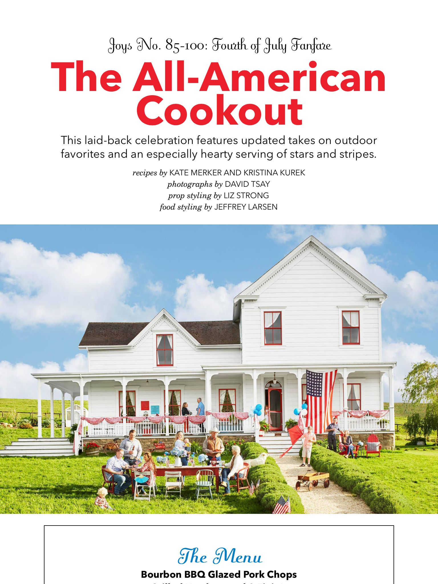 The All American Cookout From Country Living July August 2018 Read It On The Texture App Unlimited Ac Farmhouse Exterior Cookout Canada Day Party