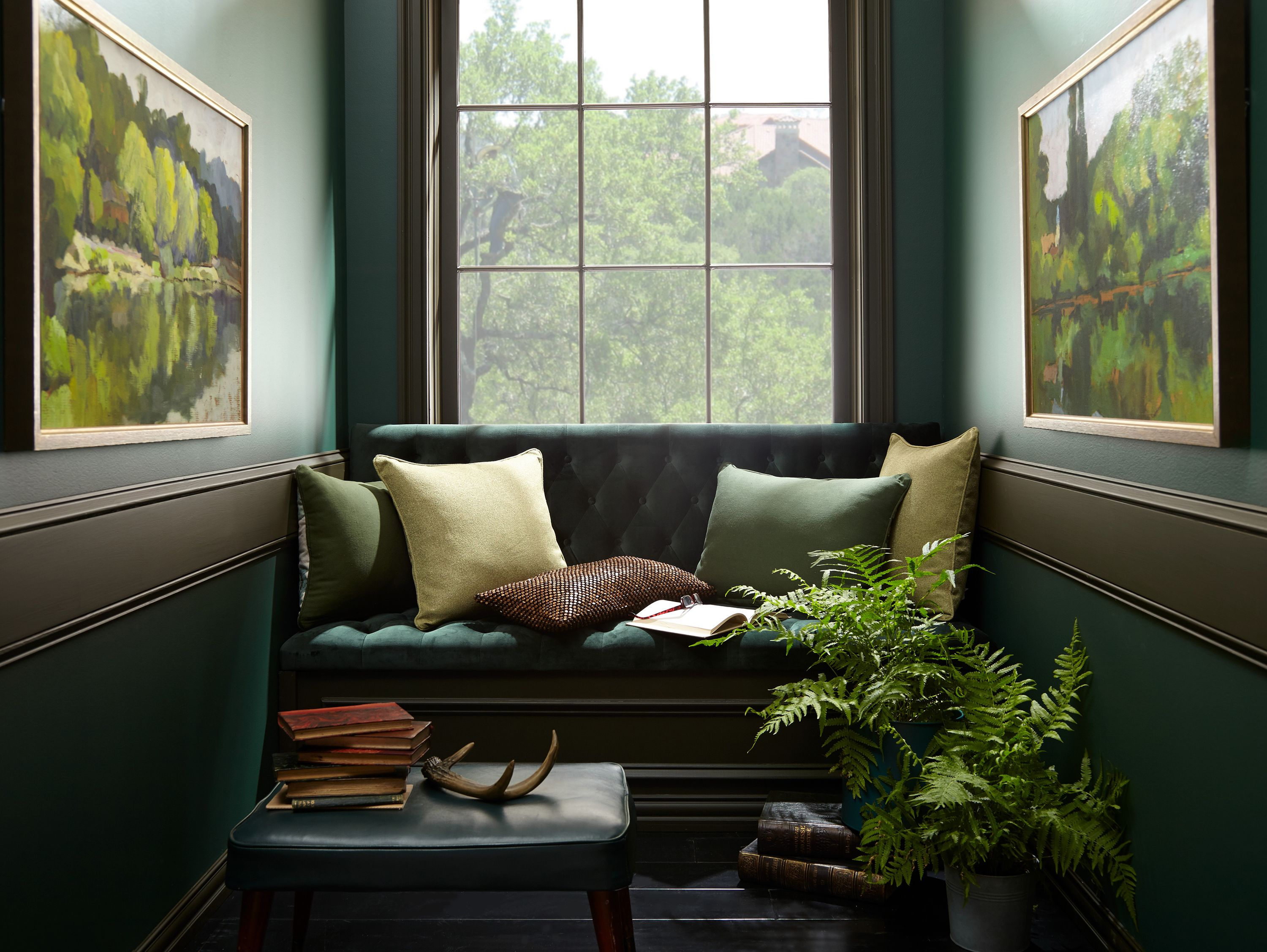 Cosagach Reading Nook Green Rooms Cozy House Home Trends