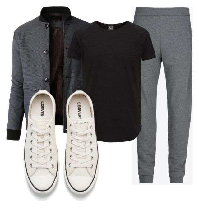 """""""Untitled #2765"""" by thestylegosssip on Polyvore featuring LE3NO, Maison Margiela, Jack & Jones, Converse, men's fashion and menswear"""