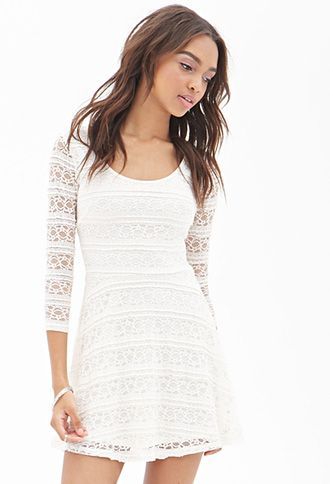 Rehearsal Dinner A Line Lace Dress Forever21 2000060869