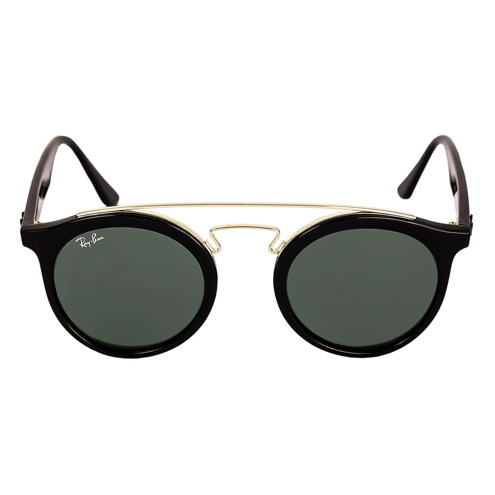 d80f71c1d6 Ray-Ban RB 4256 46 Women s Gatsby I Round Green Classic Lenses Black  Propionate   Gold Metal Frame Sunglasses