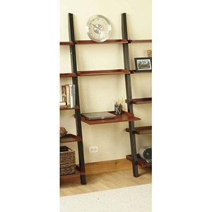 French Country Leaning Ladder Desk Black And Oak Lightweight Look Think Other One