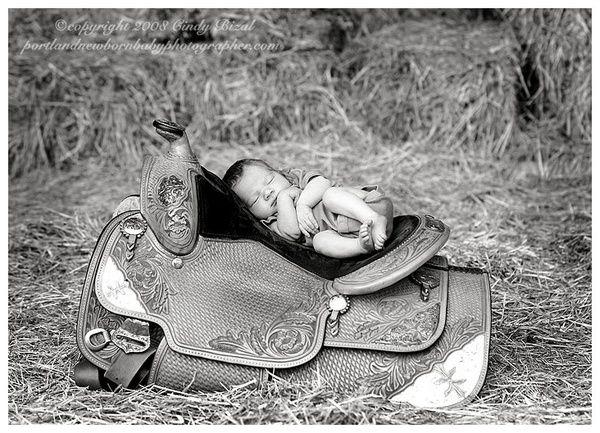 Western newborn photography slides baby western saddle jpg baby on western