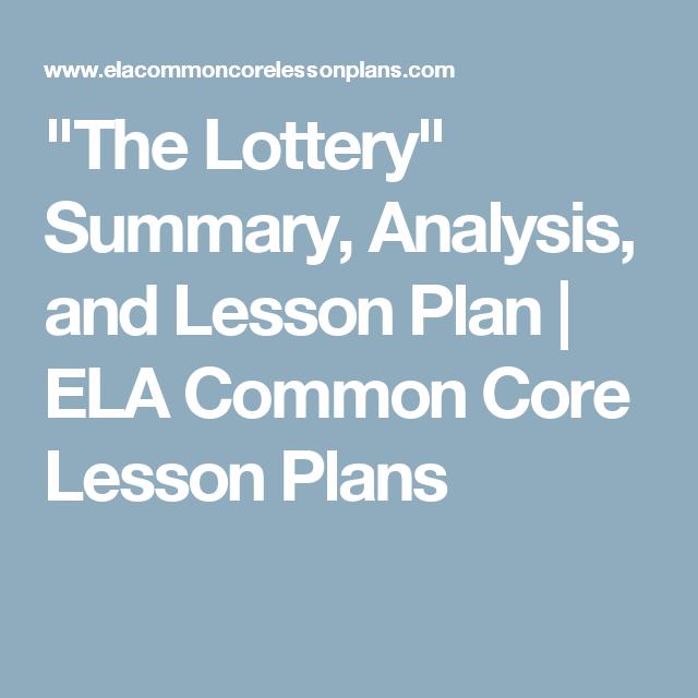 the lottery brief summary