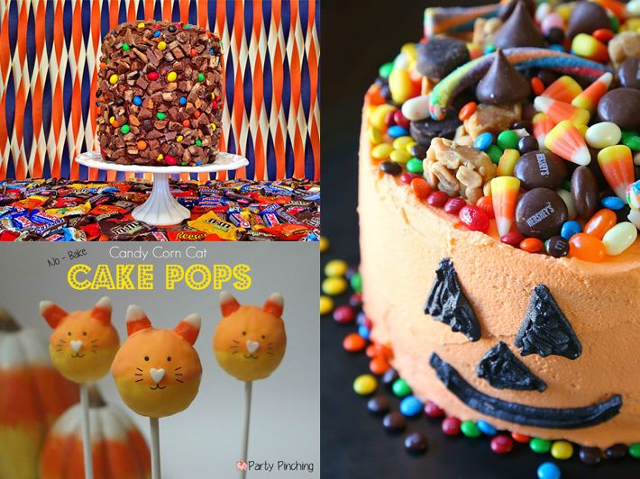 Halloween Candy Cake Ideas  Decorations Candy cakes, Halloween - halloween cupcake decor