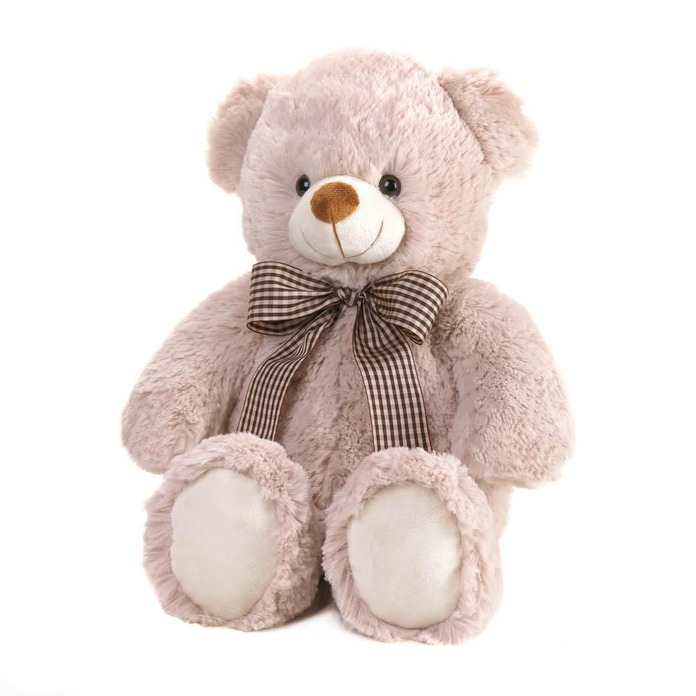 22e57a8cfdf Beige Bear With Bow Plush 18 Inch How can you resist that smiling face and  soft fur  This adorable