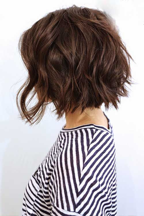 40 Cute Hairstyles For Short Hair Page 4 Of 7 Love This Hair Short Textured Haircuts Short Hair Styles Wavy Bob Haircuts