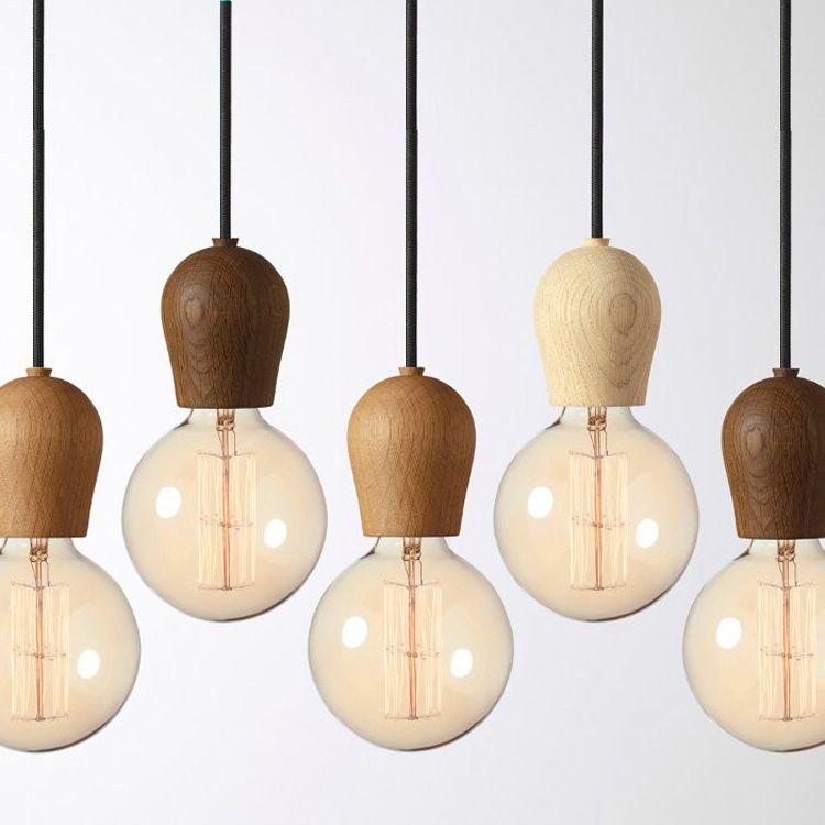 Lamps Personality Single Bulb Pendant Light Wood Lamp Holder Lighting InPendant  Lights From Lights U0026