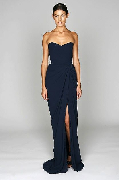 Navy blue bridesmaid dress, long bridesmaid dress, sweet heart bridesmaid dress, cheap prom dress, side split dress, PD15130 sold by Yesdress. Shop more products from Yesdress on Storenvy, the home of independent small businesses all over the world.
