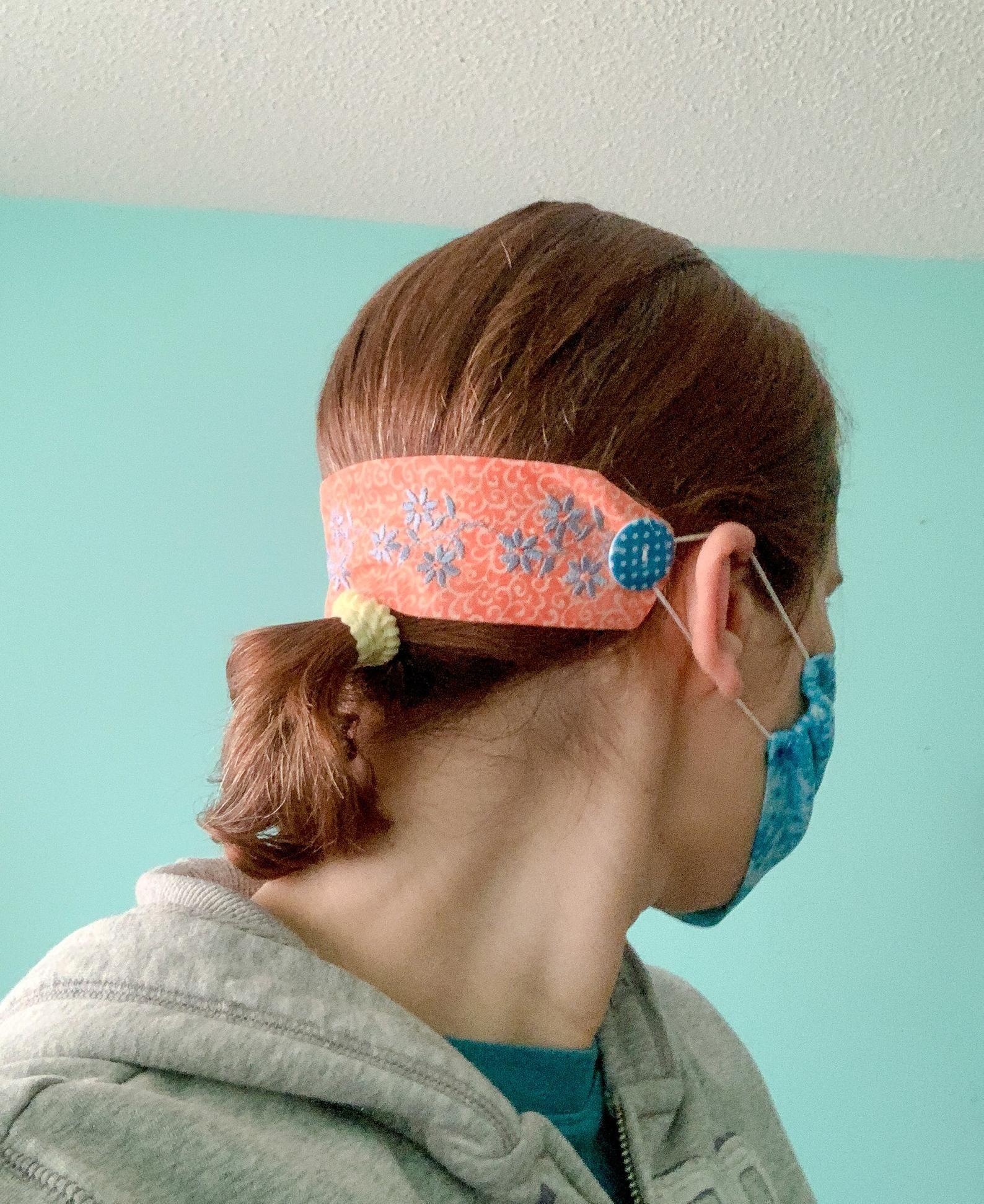 Easy Diy Ear Savers In 2020 Easy Face Mask Diy Easy Face Masks