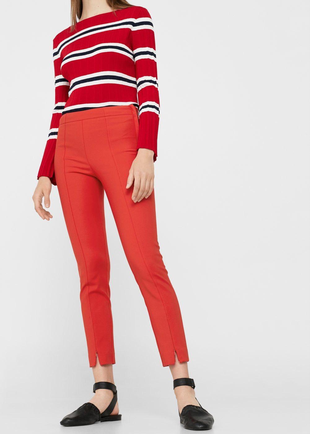 Crop slimfit pants women slim fit trousers trousers