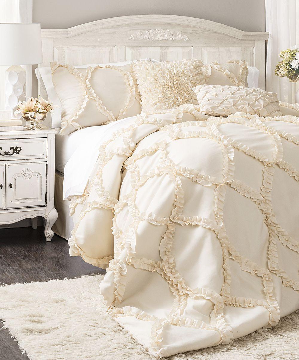 Romantic ivory comforter set cubrelechos pinterest comforter