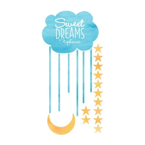 Sweet Dreams Decorative Wall Decal, 30x60