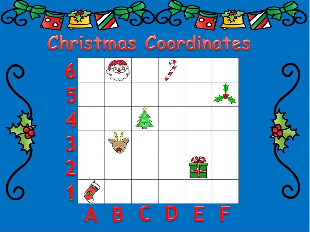 Christmas Coordinate Map Skills