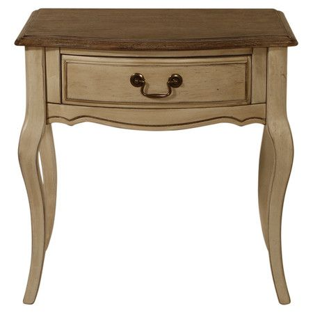 Channeling classic French design influences, this stunning wooden table features 1 drawer and an aged finish. Place beside your bed to showcase a statement l...