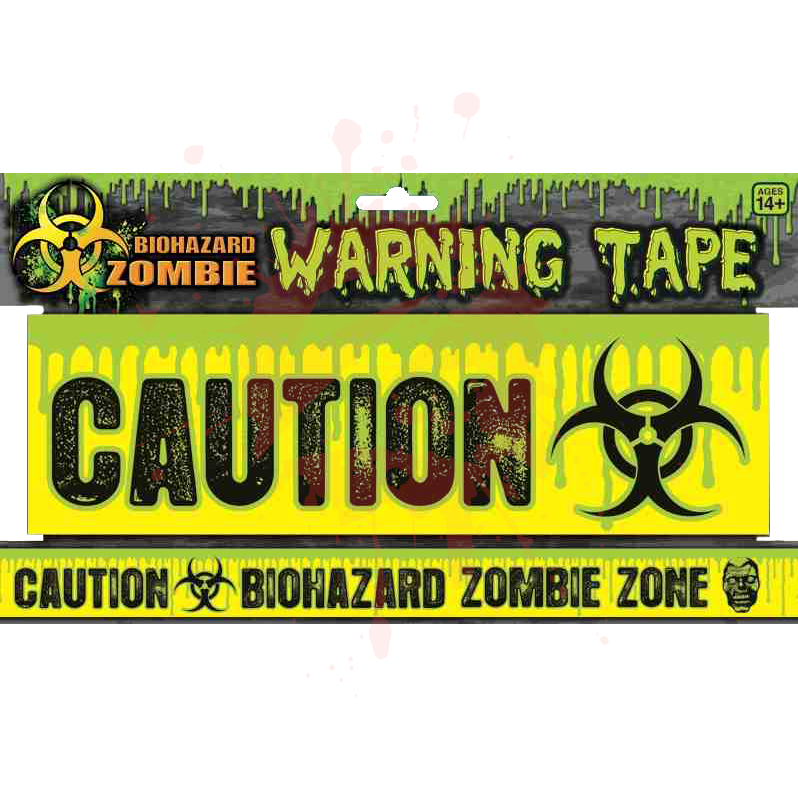 Zombie Caution Tape Plus We Can Keep All These Decorations And Use Them For Halloween Lol Zombie Zombie Birthday Parties Forum Novelties